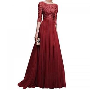 2019 NEW stock Women Evening Dresses Long Sleeve Prom Gowns Ladies Party Dresses