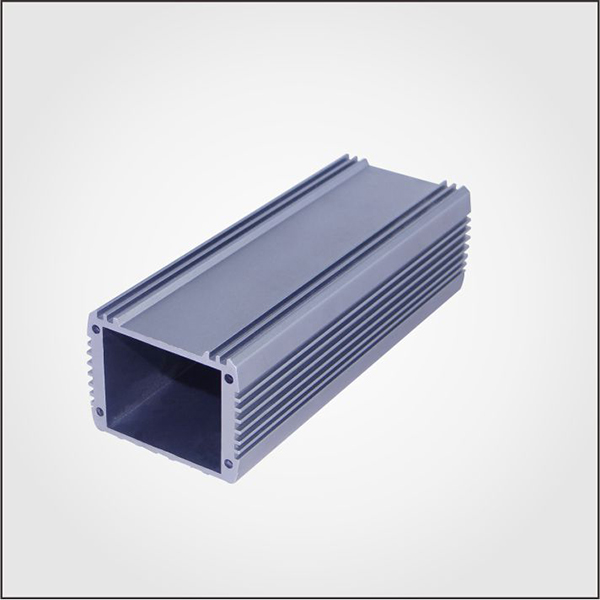 Black Extruded Aluminum Electronic Enclosure, Metal Extrusion heatsink for PCB Housing