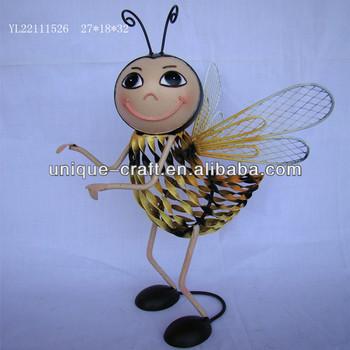 Metal Honey Bee Garden Decoration