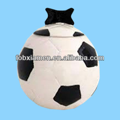 Soccer ball shaped pet spice jar