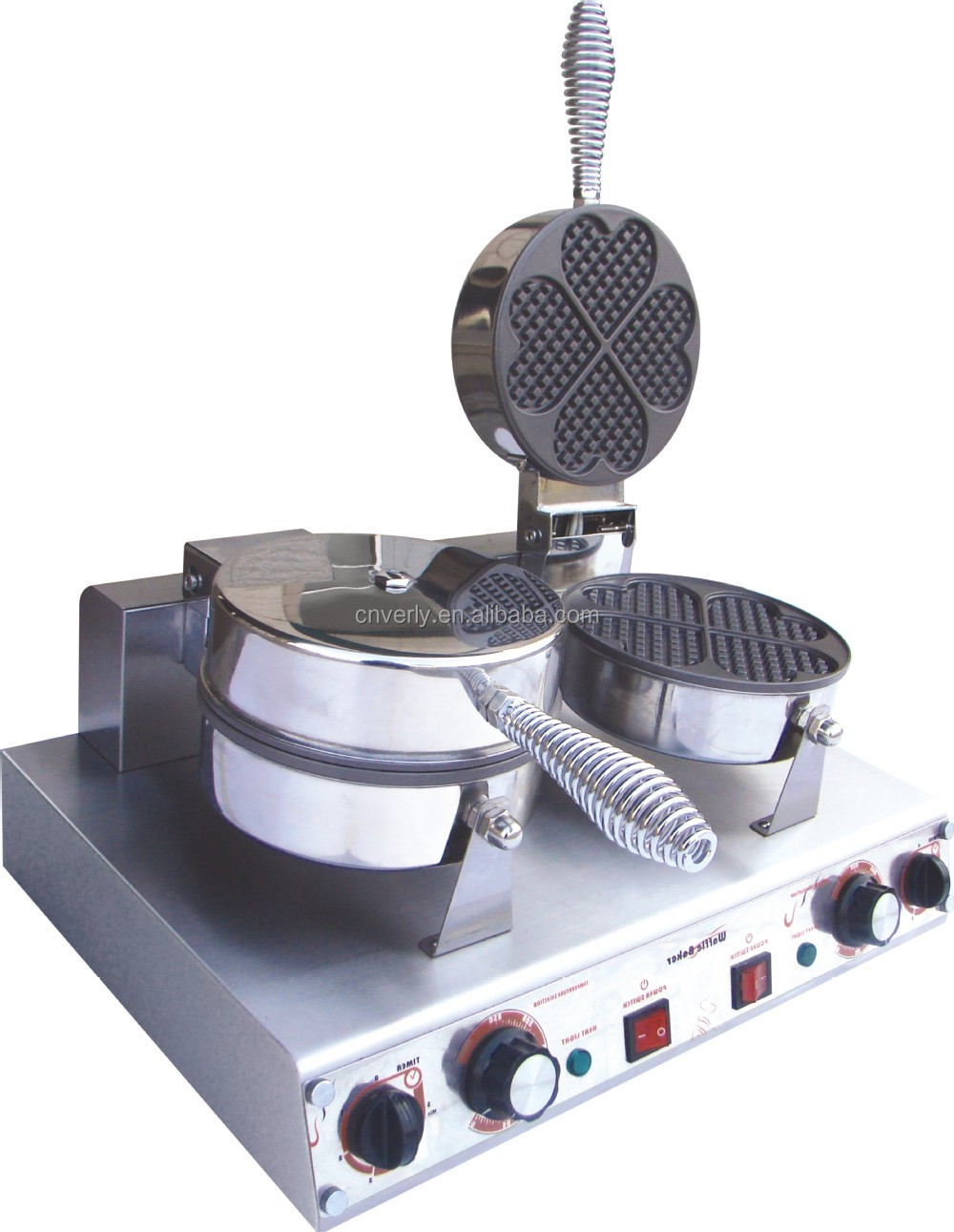 Beautiful shape waffle baker/ machine/ maker/ mix/ equipment with CE approved HFL-02