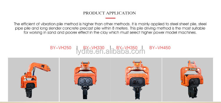 Chinese manufacturer made high efficient piling vibration machine offshore pile hammer and sheet pile hammer for excavator