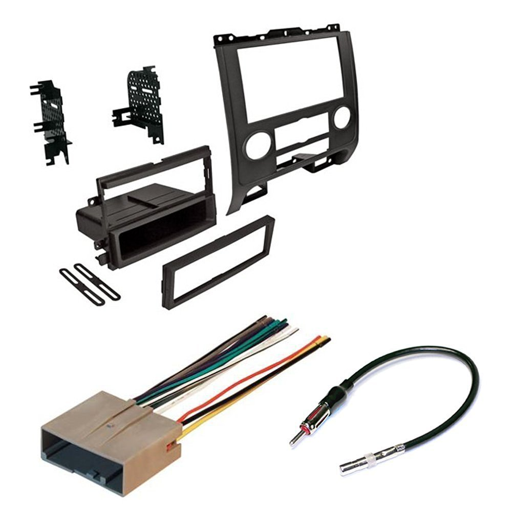 CAR RADIO STEREO RADIO KIT DASH INSTALLATION MOUNTING WITH WIRING HARNESS AND RADIO ANTENNA -- FORD/MERCURY/MAZDA 2008-2012