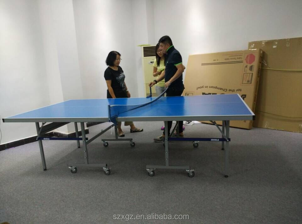 Outdoor waterproof table tennis table 4/6mm aluminum plate from Shenzhen Double Star Sports Goods Co.,Ltd