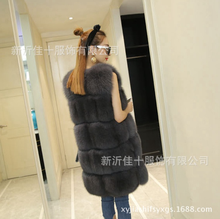 Wholesale Sleeveless Plus Size Faux Fur Slim Vest For Ladies plush animal ball coat with fur collar