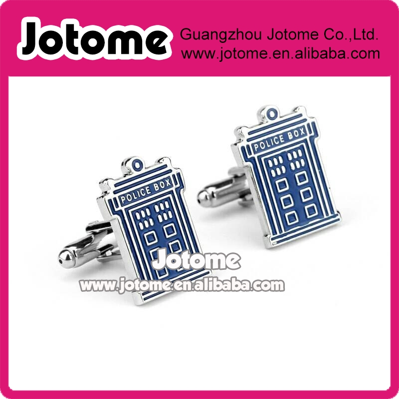 TARDIS Doctor Who Inspired TARDIS Cuff Links Cufflinks