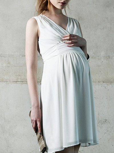 2017 Liane Maternity Cocktail Dress in Off-White