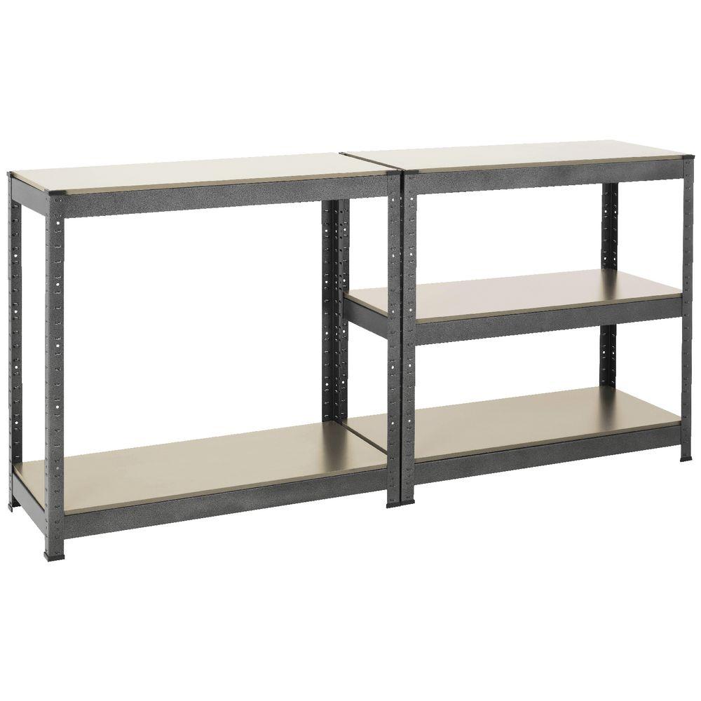 High Quality 5 Tier MDF Galvanized Shelf Metal Storage Racks