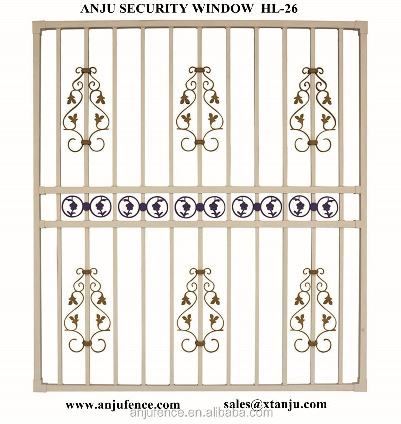 2015 New Design Of Iron /steel Window Grill Design Made In China ...