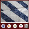 China 85% polyester 15% rayon blue white striped fabric stripe burnout fabric factory wholesale