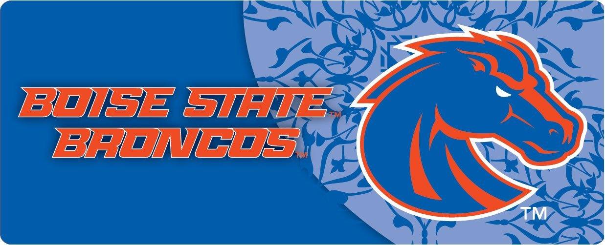 """BOISE STATE BRONCOS BUMPER STICKER- 4"""" X 10""""-NCAA COLLEGE BUMPER STICKERS-OFFICIALLY LICENSED"""