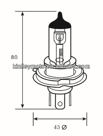 Direct Factory12v 10090w Motorcycle H4 Bulb