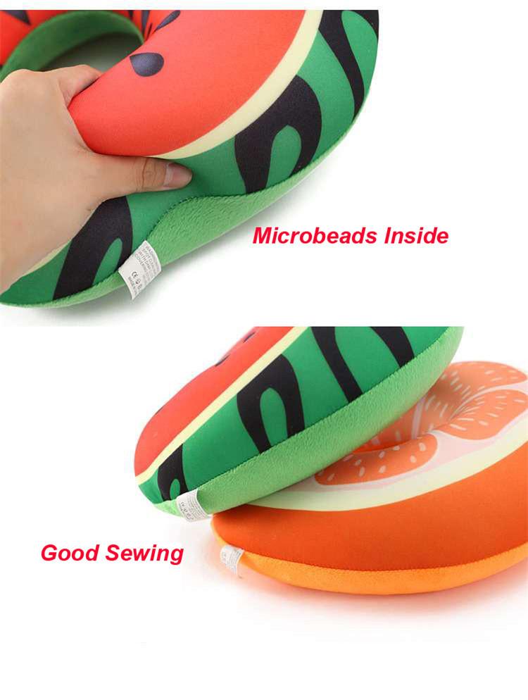 Excelente calidad microesferas de cubo personalizado portátil cuello almohada de viaje