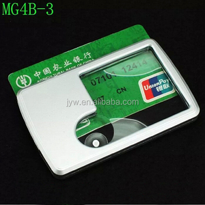 2015 BIJIA MG4B-3 3X 6X LED Illuminated Pocket Credit Card Size Jewelry Loupe Magnifier