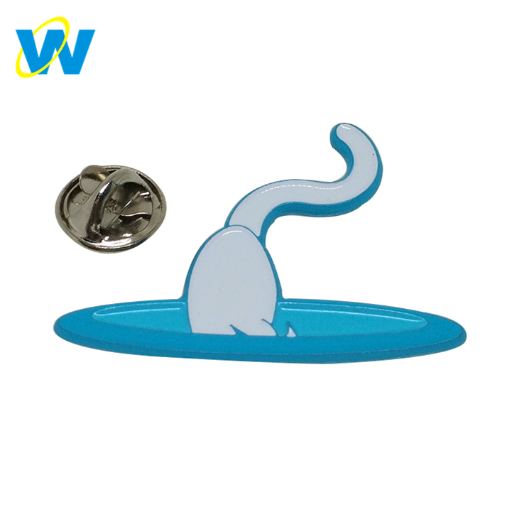 Manufacturer Supply cuastom cat metal badge for bags, soft enamel mini badge cartoon,badge custom