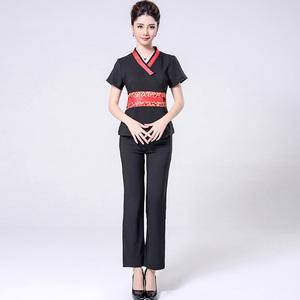 high quality short sleeve waist waist repair suit work uniform for massage therapist
