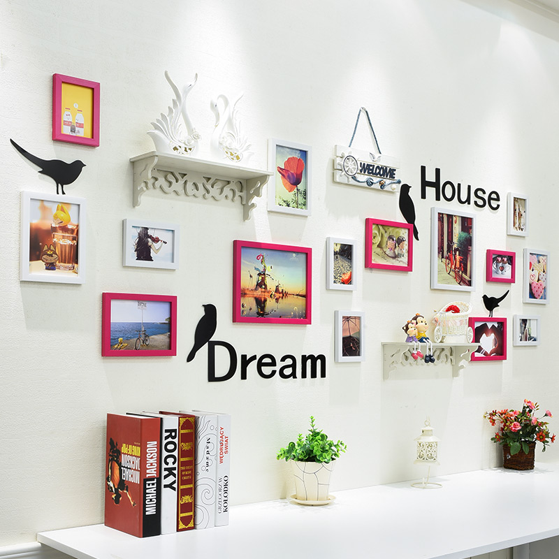 15 Pcs Hanging Photo Frame For Picture Kitchen Wall Decor Modern Picture  Frame For Family New Arrival Cadre Photo Enfant Frames - Buy Photo  Frame,Wall ...