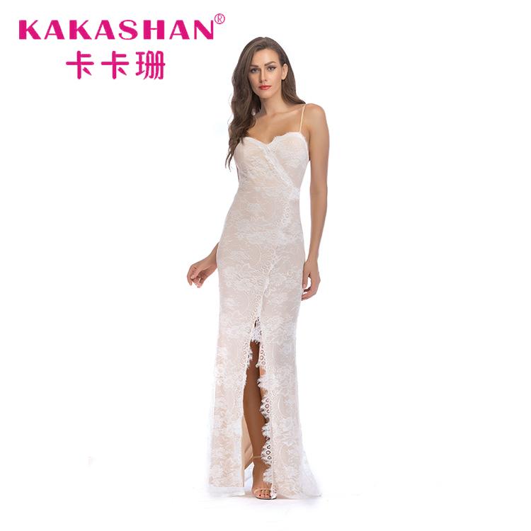 01a7348660 Últimos diseños de hermosas damas de noche Formal sin respaldo la cena de  noche blanco vestido