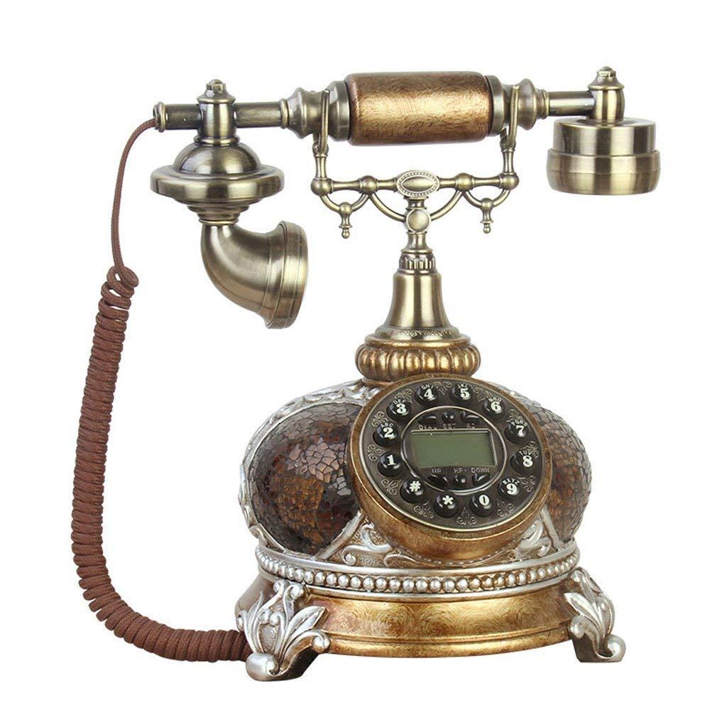 WXL Phone Retro European Style Living Room Cafe Imitation Ancient Fixed Telephone (Size : L25CMW22CMH28CM)