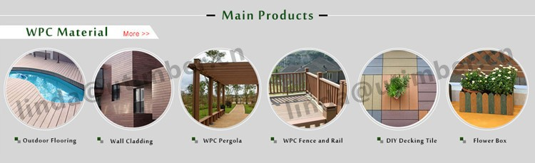 Waterproof and environmental wpc diy tile decking