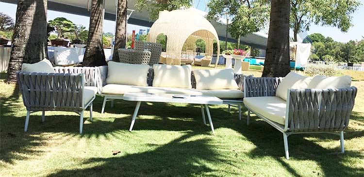 Foshan Factory Imported European Style Used Outdoor Comfortable Garden Rattan patio Sofa