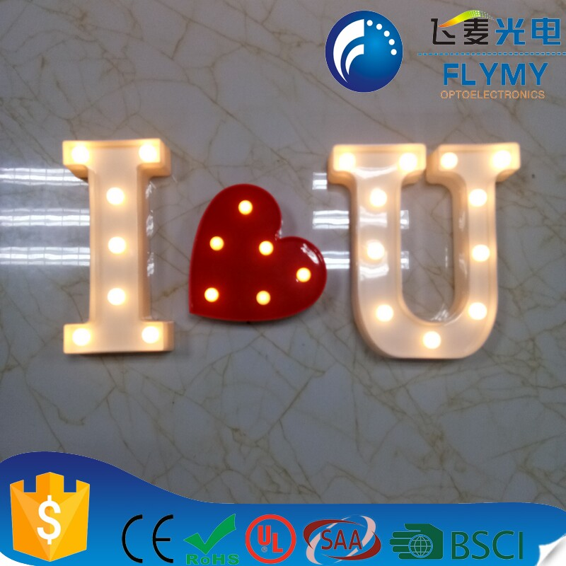 Hot selling  xmas christmas thanksgiving holiday Big led LOVE night light