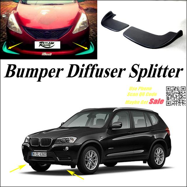 car splitter diffuser bumper canard lip for bmw x3 e83 f25. Black Bedroom Furniture Sets. Home Design Ideas
