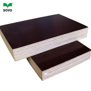 construction shuttering board/18mm marine plywood/film faced shutter board plywood from SOYO