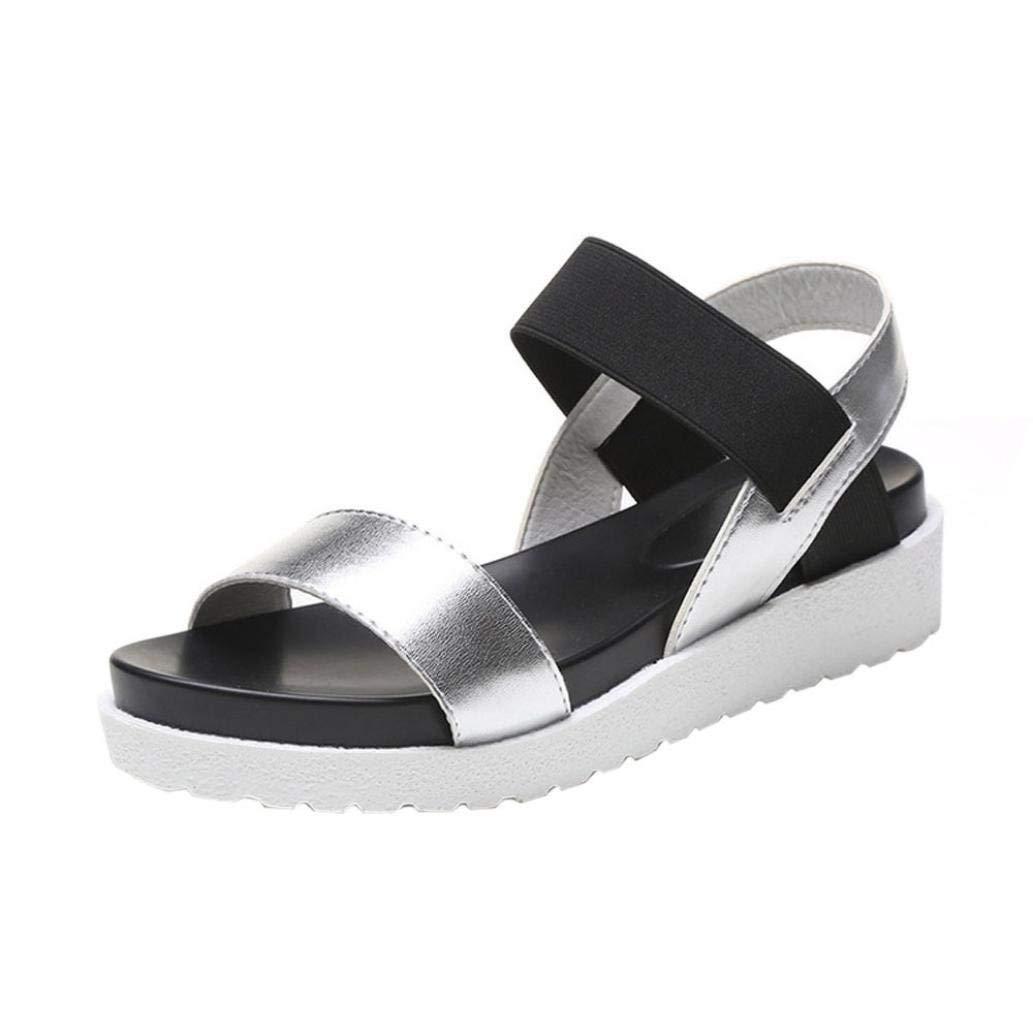 dd751bcffcf AgrinTol Fashion Women Aged Leather Flat Sandals (8