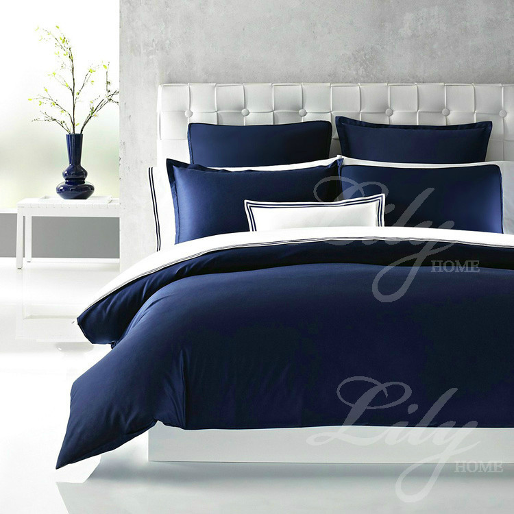Hotel Collection King Size Quilts: European Style Hotel Bedding Set Blue Color Bedspread