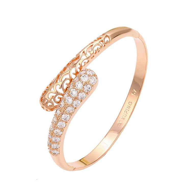 51395 Wholesale jewelry xuping bangles, bangle stand designs, rose gold jewelry фото