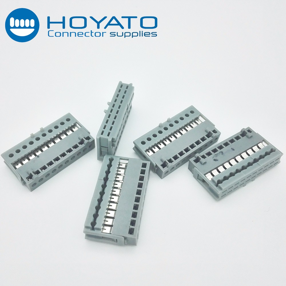 Electronic Ribbon Cable Connectors : Electronic connector joint wire amp mm idc type pin