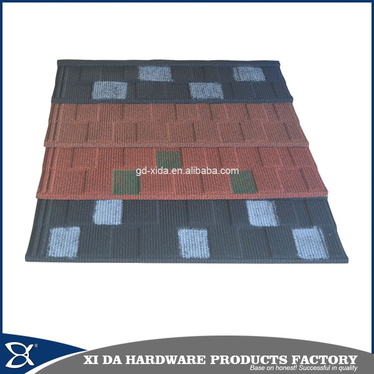 Color shingles stone coated metal roofing tiles