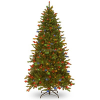 7.5' Pre-lit Deluxe Artificial led Christmas Tree with Memory Wire, 550 Dual-Color Lights, PowerConnect, and 9-Function Foot