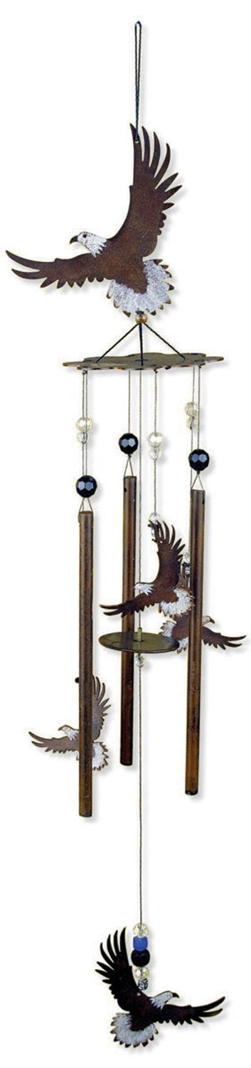 Sunset Vista Designs Wilderness Wonders Eagle Wind Chime, 28-Inch Long