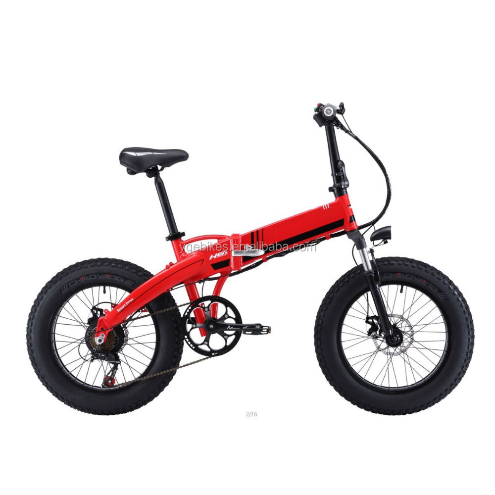 2017 New Folding e Bike Beach Cruiser Electric Bicycle 20 Inch 350W Electric Fat Tire Scooter Snow Bike for Wholesale
