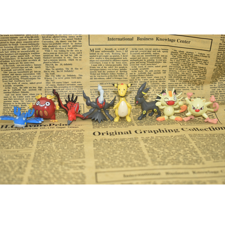 Mini 3d anime 200 stücke pokemon durable sammlerstücke action figur