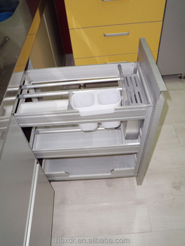 Kitchen Cabinet Aluminum Drawer Basket Aluminium Profile For Kitchen
