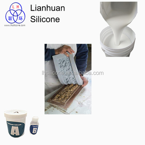 Liquid silicone rubber to make molds for gypsum concrete artificial stone  cement sculpture resin products