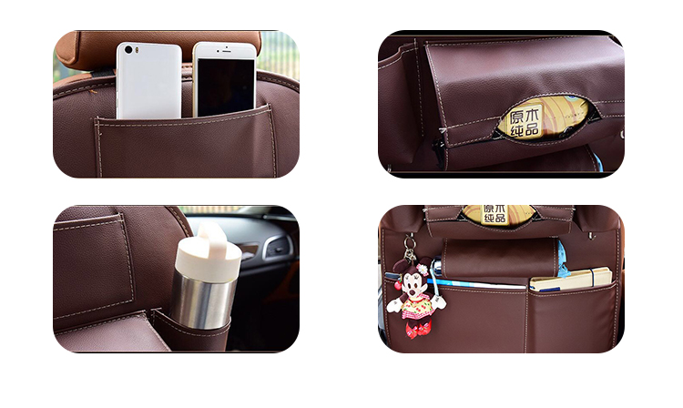 N-Y-006 leather backseat car organizer how to organize your truck auto cup