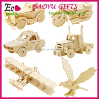 Children's wooden environmental 3d puzzle toys fancy small pussy fancy toy