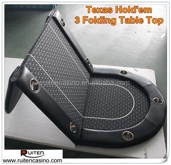 Beautiful Texas Holdu0027em Table Top 3 Folding Poker Table Top