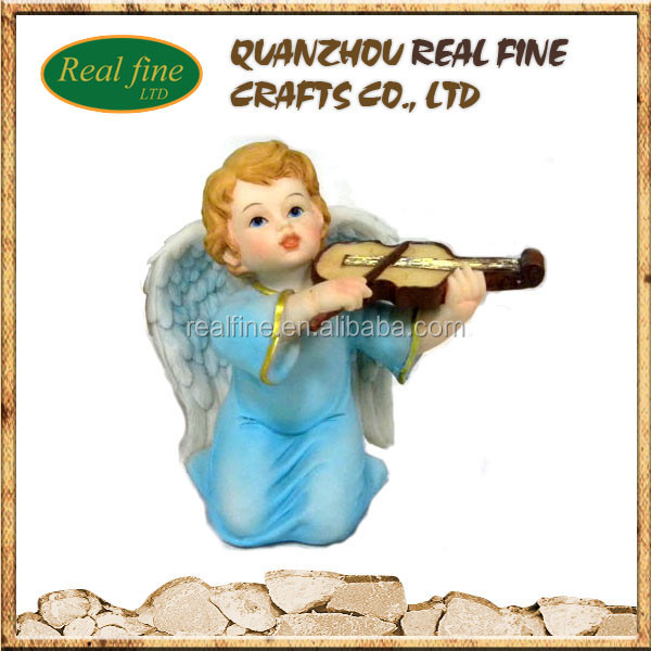 custom baby resin angels figurines play the violin for sale