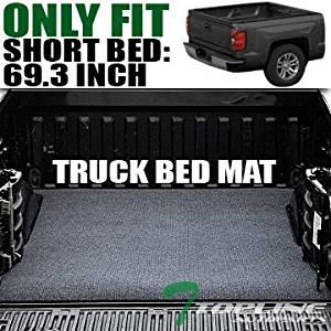 Topline Autopart Black Truck Bed Cargo Box Trunk Floor Rug Mat Carpet 07-16 Silverado/Sierra 5.8 Ft