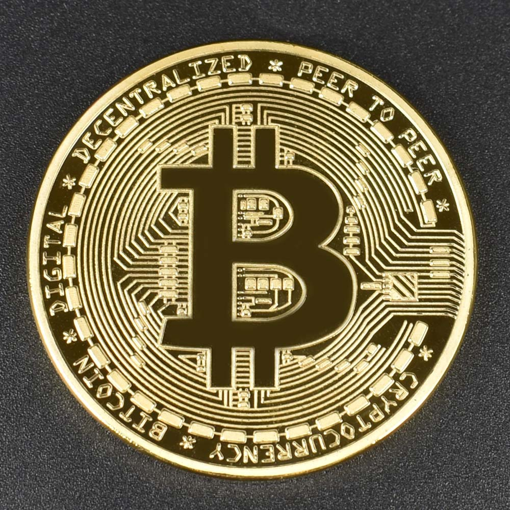 Wholesale 24K Gold Plated Bitcoin Bit Coin For Souvenir