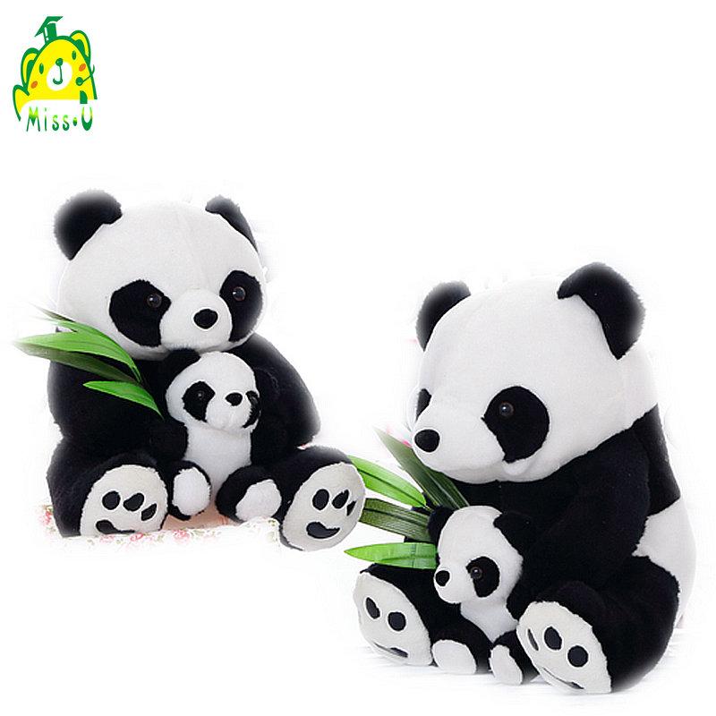 Super cute stuffed plush Panda mum&kids family panda toys for baby