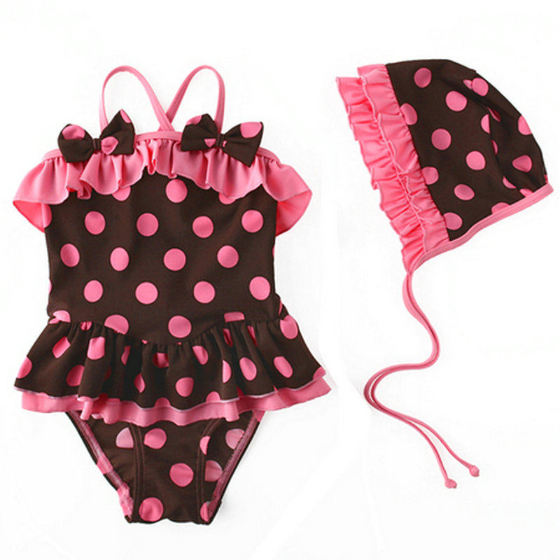a34babde21d New Arrival 2016 Hot Sale Infant Bathing Suits Cute Pink Polka Dot Swim  Wear Summer Style Baby Girls Swimming Suit with Hat   Nice plus size clothing  shop ...
