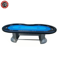 Luxury Texas poker table with rivet and stainless steel leg Baccarat Poker chips Customize electronic LED Casino supplies