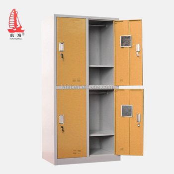 Used Stainless Steel Storage Cabinets Powder Coating Office Furniture 4 Door Locker For Singapore Market