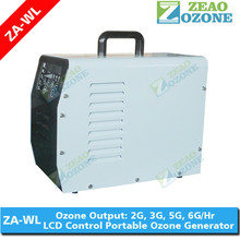 OEM ozone machine for air purifier and odor eliminator with LCD display, white,blue, green colors available